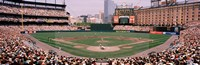 """High angle view of a baseball field, Baltimore, Maryland by Panoramic Images - 36"""" x 12"""""""