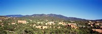 "High angle view of a city, Santa Fe, New Mexico, USA by Panoramic Images - 36"" x 12"""
