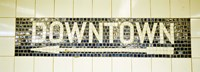 USA, New York City, subway sign Fine Art Print