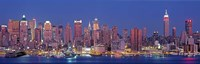 """New York City West Side Skyscrapers during dusk by Panoramic Images - 36"""" x 12"""""""