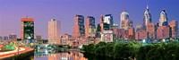 "Philadelphia, Pennsylvania Skyline at Night by Panoramic Images - 36"" x 12"", FulcrumGallery.com brand"