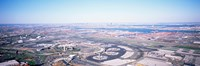 USA, New Jersey, Newark Airport, Aerial view with Manhattan in background Fine Art Print