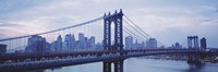 """Skyscrapers In A City, Manhattan Bridge, NYC, New York City, New York State, USA by Panoramic Images - 36"""" x 12"""" - $34.99"""