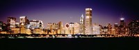 """Chicago Lights at Night by Panoramic Images - 36"""" x 12"""""""