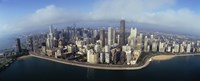 """High angle view of buildings at the waterfront, Chicago, Illinois, USA by Panoramic Images - 36"""" x 12"""""""