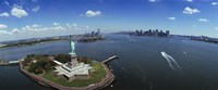 """Aerial View of the Statue of Liberty, New York City by Panoramic Images - 36"""" x 12"""""""