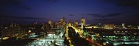 """High Angle View Of A City Lit Up At Dusk, St. Louis, Missouri, USA by Panoramic Images - 36"""" x 12"""" - $34.99"""