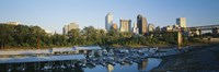 """City At Dusk, Memphis, Tennessee, USA by Panoramic Images - 36"""" x 12"""""""