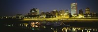 """Buildings Lit Up At Dusk, Memphis, Tennessee, USA by Panoramic Images - 36"""" x 12"""" - $34.99"""