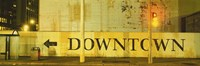 """Downtown Sign Printed On A Wall, San Francisco, California by Panoramic Images - 36"""" x 12"""", FulcrumGallery.com brand"""