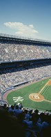 High angle view of spectators watching a baseball match in a stadium, Yankee Stadium, New York City, New York State, USA Fine Art Print