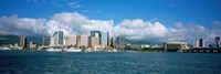 """Buildings On The Waterfront, Downtown, Honolulu, Hawaii, USA by Panoramic Images - 36"""" x 12"""""""