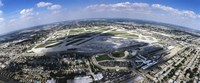 "Aerial view of an airport, Midway Airport, Chicago, Illinois, USA by Panoramic Images - 36"" x 12"", FulcrumGallery.com brand"