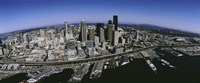 """Aerial view of a city, Seattle, Washington State, USA by Panoramic Images - 36"""" x 12"""""""