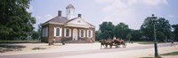 Carriage moving on a road, Colonial Williamsburg, Williamsburg, Virginia, USA Fine Art Print