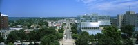 """High Angle View Of A City, E. Washington Ave, Madison, Wisconsin, USA by Panoramic Images - 36"""" x 12"""", FulcrumGallery.com brand"""