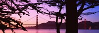 "Suspension Bridge Over Water, Golden Gate Bridge, San Francisco, California, USA by Panoramic Images - 36"" x 12"" - $34.99"