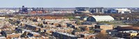 """High angle view of a baseball stadium in a city, Eagles Stadium, Philadelphia, Pennsylvania, USA by Panoramic Images - 36"""" x 12"""""""
