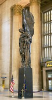 """War memorial at a railroad station, 30th Street Station, Philadelphia, Pennsylvania, USA by Panoramic Images - 19"""" x 36"""""""