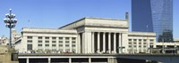 "Facade of a building at a railroad station, 30th Street Station, Schuylkill River, Philadelphia, Pennsylvania, USA by Panoramic Images - 36"" x 12"", FulcrumGallery.com brand"