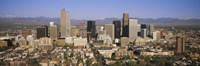 "Aerial view of Denver city, Colorado, USA by Panoramic Images - 36"" x 12"""
