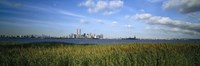 """Buildings at the waterfront, New Jersey, New York City, New York State, USA by Panoramic Images - 36"""" x 12"""""""
