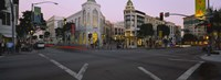 "Buildings in a city, Rodeo Drive, Beverly Hills, California, USA by Panoramic Images - 36"" x 12"""
