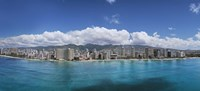 """Buildings at the Honolulu, Oahu, Hawaii Waterfront by Panoramic Images - 36"""" x 12"""""""