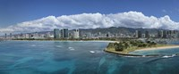 "Honolulu, Oahu, Hawaii Waterfront by Panoramic Images - 36"" x 12"""