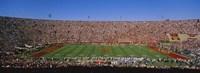 High angle view of a football stadium full of spectators, Los Angeles Memorial Coliseum, City of Los Angeles, California, USA Fine Art Print