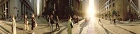 """Group of people walking on the street, Montgomery Street, San Francisco, California, USA by Panoramic Images - 36"""" x 12"""""""