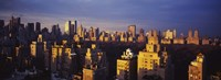 """High angle view of a cityscape, Central Park, Manhattan, New York City, New York State by Panoramic Images - 36"""" x 12"""", FulcrumGallery.com brand"""