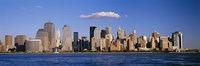 """New York City Waterfront with Blue Sky by Panoramic Images - 36"""" x 12"""""""