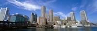 "Skyscrapers at the waterfront, Boston, Massachusetts by Panoramic Images - 36"" x 12"", FulcrumGallery.com brand"