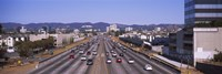 """High angle view of cars on the road, 405 Freeway, City of Los Angeles, California, USA by Panoramic Images - 36"""" x 12"""""""