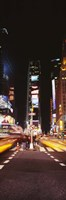 Pedestrians waiting for crossing road, Times Square, Manhattan, New York City, New York State, USA Fine Art Print