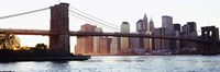 "Brooklyn Bridge over the East River by Panoramic Images - 36"" x 12"""