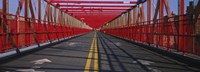 "Arrow signs on a bridge, Williamsburg Bridge, New York City, New York State, USA by Panoramic Images - 36"" x 12"""
