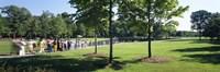 "Tourists at a memorial, Vietnam Veterans Memorial, Washington DC, USA by Panoramic Images - 36"" x 12"""