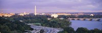 High angle view of monuments, Potomac River, Lincoln Memorial, Washington Monument, Capitol Building, Washington DC, USA by Panoramic Images - various sizes
