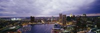 Baltimore with Cloudy Sky at Dusk Fine Art Print