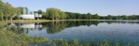"""Reflection of trees in water, Warner Park, Madison, Dane County, Wisconsin, USA by Panoramic Images - 36"""" x 12"""""""