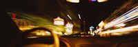 """Car on a road at night, Las Vegas, Nevada, USA by Panoramic Images - 36"""" x 12"""""""