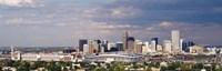 """Skyline with Invesco Stadium, Denver, Colorado, USA by Panoramic Images - 36"""" x 12"""", FulcrumGallery.com brand"""