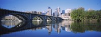 "Arch bridge across a river, Minneapolis, Hennepin County, Minnesota, USA by Panoramic Images - 36"" x 12"""