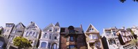 "Low angle view of houses in a row, Presidio Heights, San Francisco, California by Panoramic Images - 36"" x 12"", FulcrumGallery.com brand"