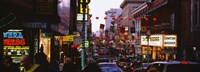 """Traffic on a road, Grant Avenue, Chinatown, San Francisco, California, USA by Panoramic Images - 36"""" x 12"""""""