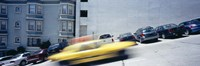 """Cars parked on the roadside, San Francisco, California, USA by Panoramic Images - 36"""" x 12"""""""