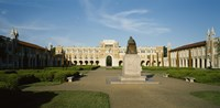 """Statue in the courtyard of an educational building, Rice University, Houston, Texas, USA by Panoramic Images - 36"""" x 12"""""""