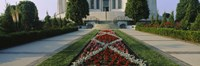 """Formal garden in front of a temple, Bahai Temple Gardens, Wilmette, New Trier Township, Chicago, Cook County, Illinois, USA by Panoramic Images - 36"""" x 12"""""""